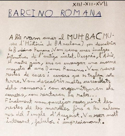 "3r nivell al MUHBA. ""Barcino Romana"""